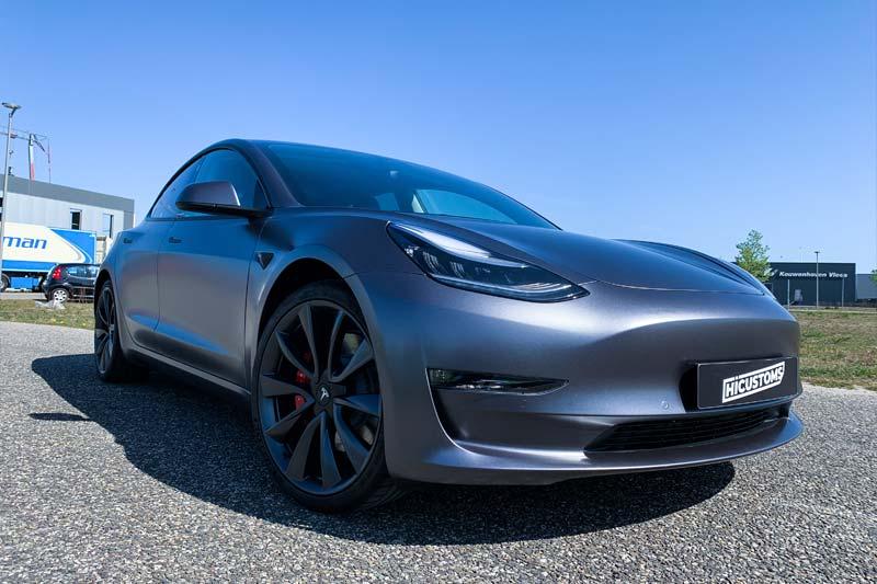 Tesla Satin Dark Grey